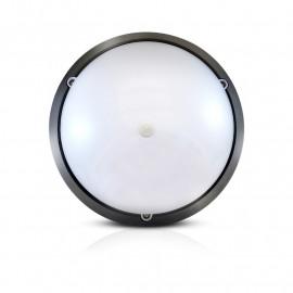 LED Hublot + Détecteur IR Ø296 18W 1450LM 4500°K IP65 Noir