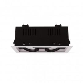 SPOT CARDAN LED BLANC ORIENTABLE  2x10 Watt 4000°K 2x940 LM