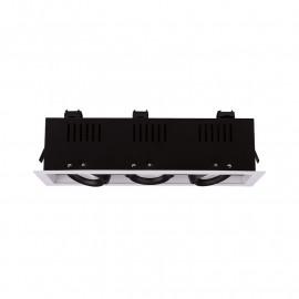 SPOT CARDAN LED BLANC ORIENTABLE  3x10 Watt 4000°K 3x940 LM
