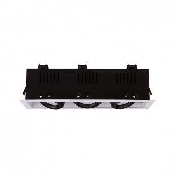 SPOT CARDAN LED BLANC ORIENTABLE  3x10 Watt 3000°K 3x900 LM