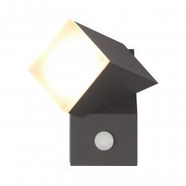 Applique Murale LED 8W 420 LM Détecteur 3000°K Gris IP54