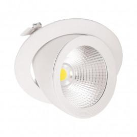 Spot LED Escargot Rond Inclinable et Orientable avec Alimentation Electronique 30W 3000°K