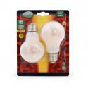 Ampoule LED E27 Bulb Filament Dépoli 8W 2700°K Blister x 2