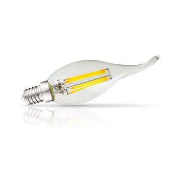 5*Ampoule LED E14 Filament Coup de vent 4W 2700°K
