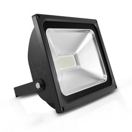 projecteur exterieur led plat gris 50w 6000 k. Black Bedroom Furniture Sets. Home Design Ideas