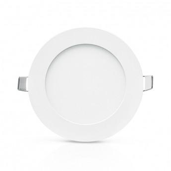 Plafonnier LED Blanc Ø120 6W 3000°K