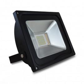 Projecteur LED Plat Noir 230V 30W 6000°K IP65