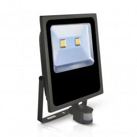 Projecteur Exterieur Plat LED Gris avec Détecteur 100W 4000°K IP65