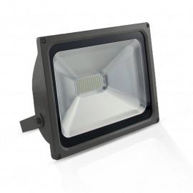 Projecteur Exterieur LED Gris Plat 50W 3000°K
