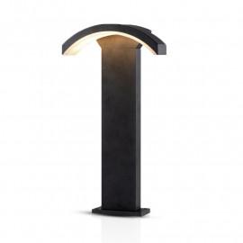 Potelet Rectangulaire LED 6W diffuseur curviligne 3000°K gris IP54