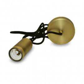 Suspension Douille E27 Metal Cylindre Bronze + Câble 2 M