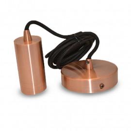 Suspension Douille E27 Metal Cylindre Cuivre + Câble 2 M