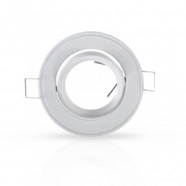 Support plafond Rond Inclinable Blanc Ø86 mm