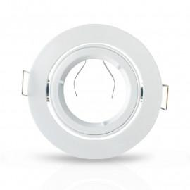 Support plafond Rond 1/4 de tour Blanc Ø93 mm