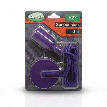 Suspension Douille Silicone E27 - Violet