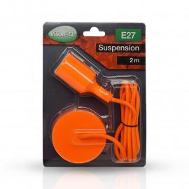 Suspension Douille Silicone E27 - Orange