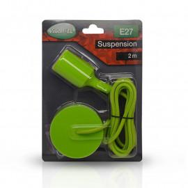 Suspension Douille Silicone E27 - Vert