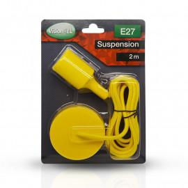 Suspension Douille Silicone E27 - Jaune