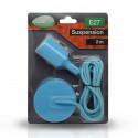 Suspension Douille Silicone E27 - Bleu
