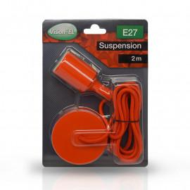 Suspension Douille Silicone E27 - Rouge