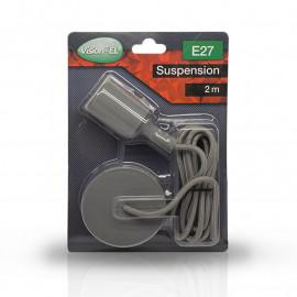 Suspension Douille Silicone E27 - Gris