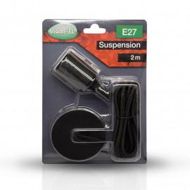 Suspension Douille Silicone E27 - Noir