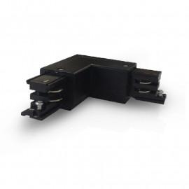 Connecteur Triphase Coude L Circuit Intérieur Droit Noir