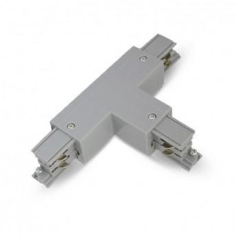5*Connecteur Triphase Forme T Circuit Intérieur Gauche Gris