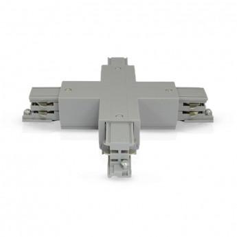 Connecteur Triphase Croix X Gris