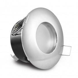 Support de spot BBC Rond Etanche chrome Ø82mm IP65