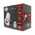 Support plafond BBC Rond Blanc avec douille automatique Ø88 mm