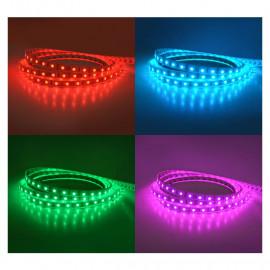 Bandeau LED RGB 5 m 60 LED/m 72W IP67 - 24V