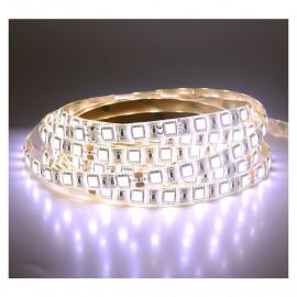 Bandeau LED 4000°K 5m 60 LED/m 72W IP65 - 24V - PU