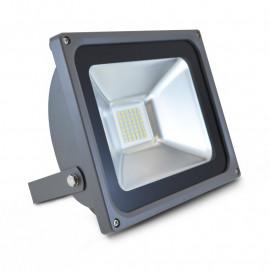 Projecteur Exterieur LED Gris Plat 30W 3000°K