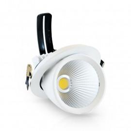 Spot LED Escargot Rond Inclinable et Orientable avec Alimentation Electronique 40W 4000°K