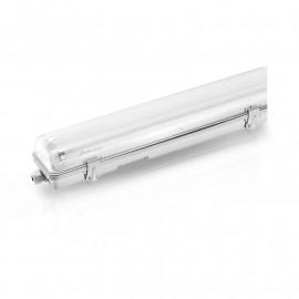 Boitier Etanche LED Traversant pour 2 Tubes T8 de 1500 mm
