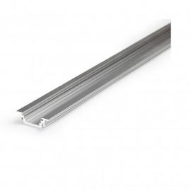 Profile Rainure Aluminium Brut 1m pour bandeaux LED 14,4mm
