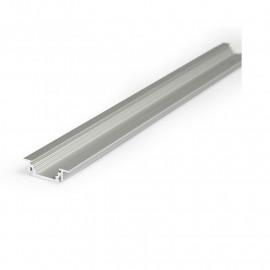 Profile Rainure Aluminium Anodisé 1m pour bandeaux LED 14,4mm