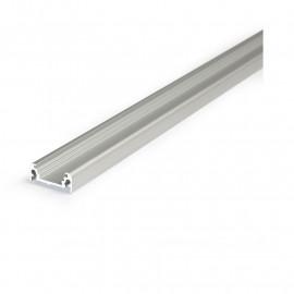 Profile Plat Aluminium Anodisé 2m pour bandeaux LED 14,4mm