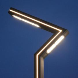 Lampadaire Eclairage Public Voie Piéton LED 50W 4000°K 4m Gris Anthracite