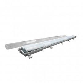 Boitier Etanche LED pour 2 Tubes T8 1200 mm Ph/neutre même côté