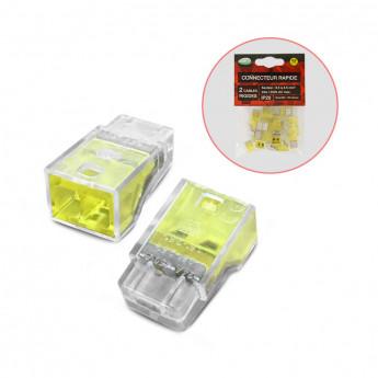Connecteur automatique 2 fils rigides polybag 20pcs