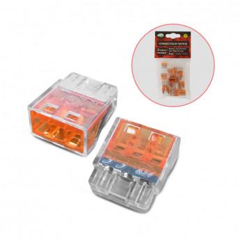 Connecteur automatique 3 fils rigides polybag 20pcs