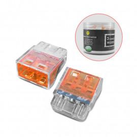 Connecteur rapides 3 fils rigides boite 100pcs