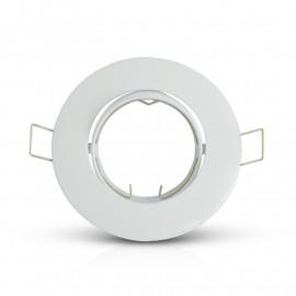 Support plafond Rond Inclinable Blanc Ø92 mm