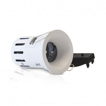 Support de spot BBC rond blanc fixe + douille automatique basse luminance
