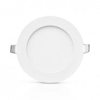 Plafonnier LED Blanc Ø128 6W 6000°K