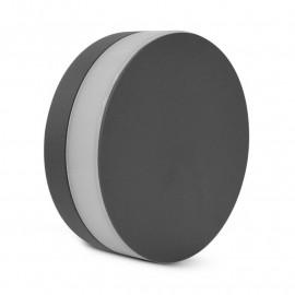 Applique Murale LED Rond Anthracite 10W 3000°K IP54