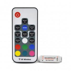 Mini Contrôleur pour bandeaux LED RGB 12V/24V + Télécommande RF