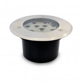 Spot LED Encastrable Sol Rond Inox Ø166MM 10W 230V 3000°K IP67